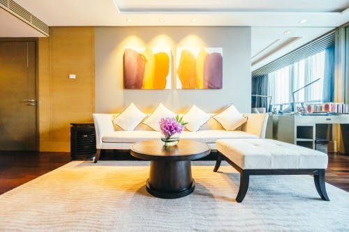 BANGKOK, THAILAND - AUGUST 12 2016: Beautiful luxury living room interior decoration in Hotel